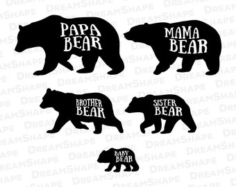 bear family download etsy