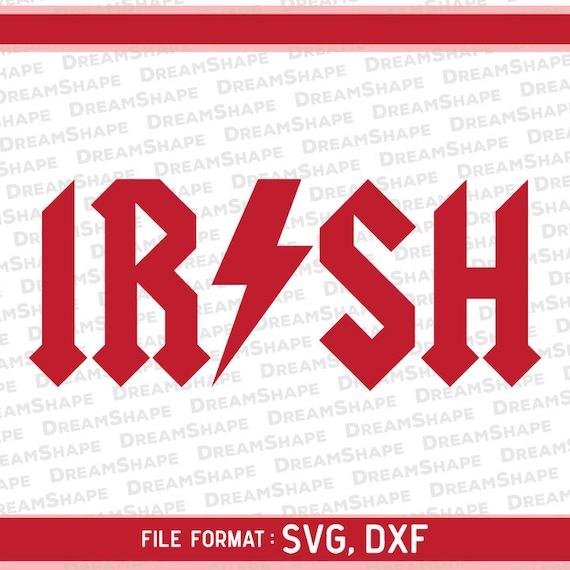Irish Svg Files Irish Logo Svg Files Acdc Svg Files Rock Etsy