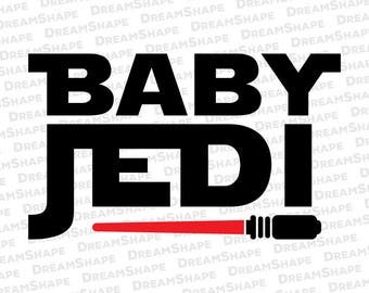 Baby Jedi SVG Files, Star Wars DXF Cutting File, Baby Jedi Svg Cuttable Files for Cricut and Silhouette, Baby Jedi SVG File Instant Download