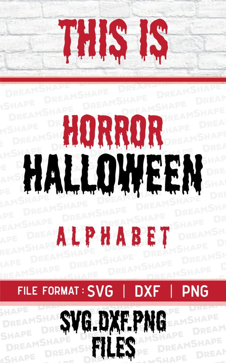 SVG Horror Halloween Fonts DXF, PNG Alphabets Letters, Halloween Cuttable  Font Initials for Cricut Machine, Vinyl Cutters Instant Download
