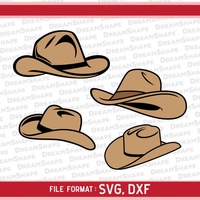 1e3d026e92585 Cowboy Hat SVG Files Sheriff Hat DXF Cutting Files Cowboys