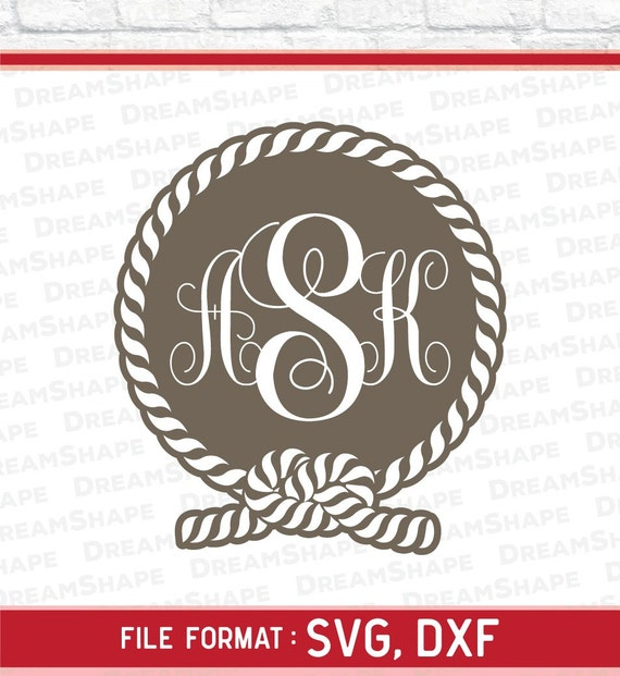 Rope Svg Monogram Rope Svg File For Vinyl Cutter Cricut Etsy