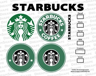 Starbucks Logo SVG Files, Starbucks DXF Cutting Files, Starbucks Option Coffee Emblem Cut Files, Siren Starbucks SVG Files, Instant Download