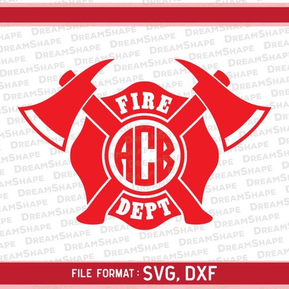 Fireman Logo SVG Files, Firefighter Emblem DXF Split, Monogram Axe Fire  Department Brigade, Split Firefighting SVG Dxf File Instant Download