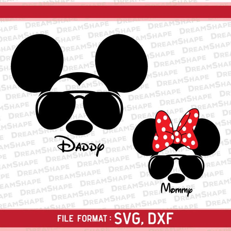 5045318ee6 Mouse Ears Shades SVG Cut Files Mouse Ears Mickey Minnie