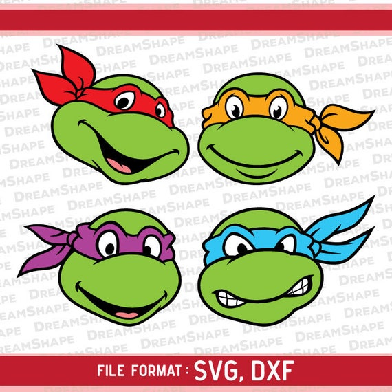 Svg Turtles Face Cut Files Turtles Svg Cutting File For Etsy