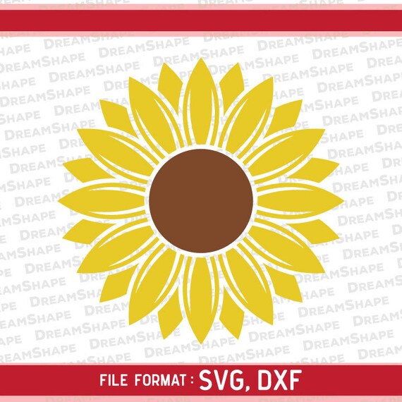 Monogram Flower Svg Files Sunflower Dxf Files Flower Etsy