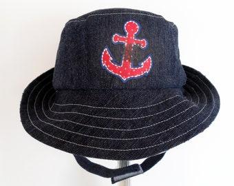 lobster seafood beach sun protector ocean nautical baby child flap sun hat