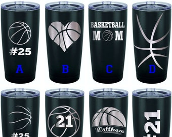 Personalized Tumbler Stainless Steel Basketball Team Gift Gifts Mom Player