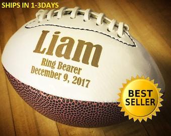 Ring Bearer Gift Personalized Football Mini Gifts For Men Groomsmen Sports Keepsake