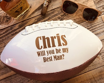 Groomsmen Gift, Best Man Gift, Ring Bearer Gift, Personalized Football, Gifts for Men, Personalized Gift, Sports Gift, Groomsmen proposal