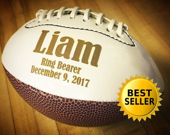 Fathers Day Gifts, Ring Bearer Gift, Personalized Football, Gifts for Men, Groomsmen Gift, Personalized Gift, Sports Gift, Keepsake