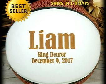 Ring Bearer Gift, Engraved Basketball, Mini Basketball, Groomsmen, Engraved Gift, Christmas Gift, Sports, Keepsake
