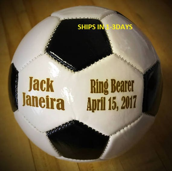 Ring Bearer Gift Personalized Soccer Ball Mini Soccer Ball Etsy