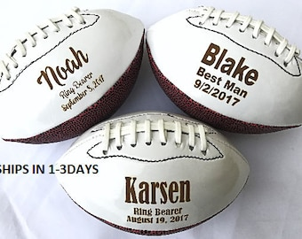 Ring Bearer Gift, Personalized Football, Mini Football, Gifts for Men, Groomsmen Gift, Personalized Gift, Sports Gift, Keepsake