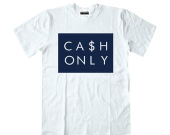 best service 32f6f ae5f9 Cash Only White T-shirt To Match Retro Air Jordans 11s XIs Midnight Navy  Blue Win Like 82 Navy Gum Low ie Georgetown 11 Low 2 3 4 5 6 7 8 9