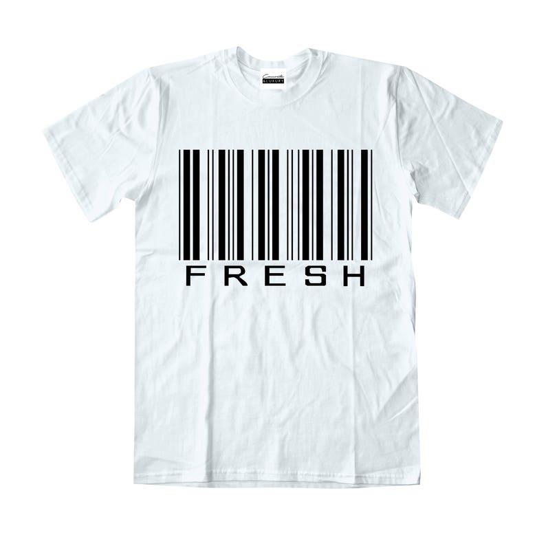 f826f9e6e74bc1 Concrete   Luxury Mens Fresh Barcode White T-shirt To Match