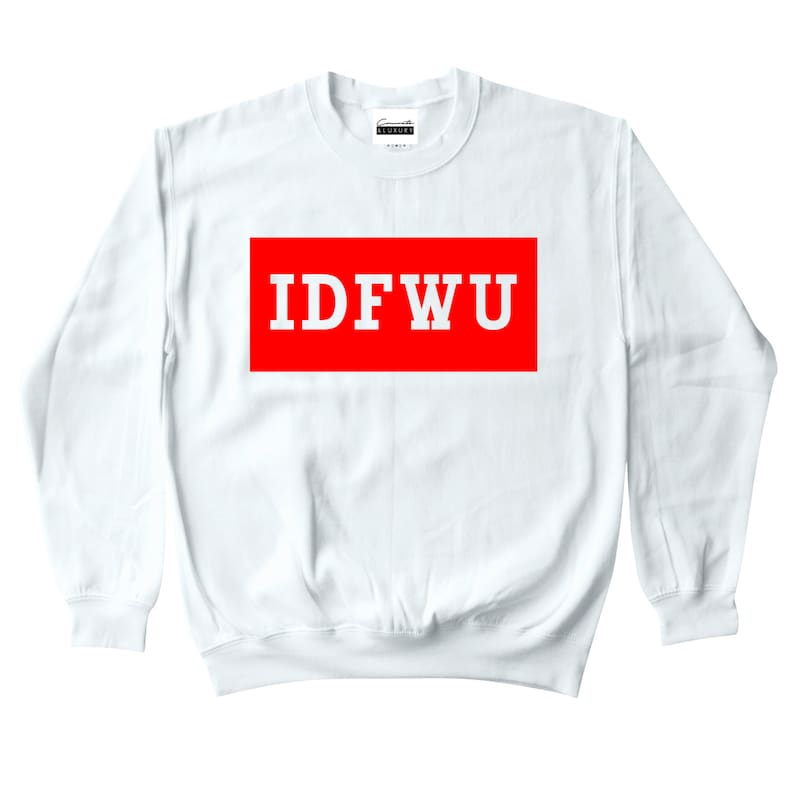 3607585c01cefc Concrete   Luxury Mens IDFWU White Crewneck Sweatshirt To