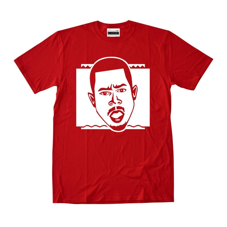 fa0fae94186ce7 Martin Lawrence Red T-shirt To Match Retro Air Jordans 11