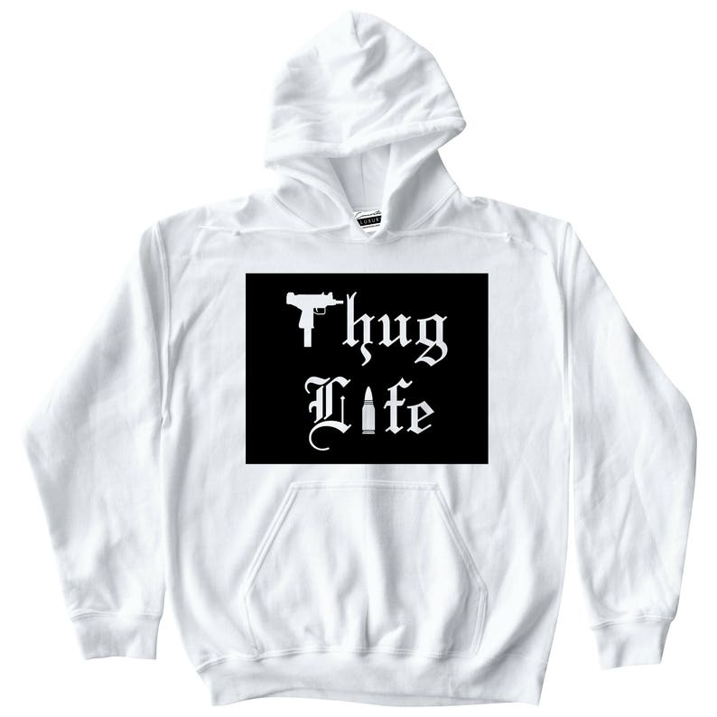 half off dea24 406ea Thug Life White T-shirt To Match Retro Air Jordan 9 LA All   Etsy