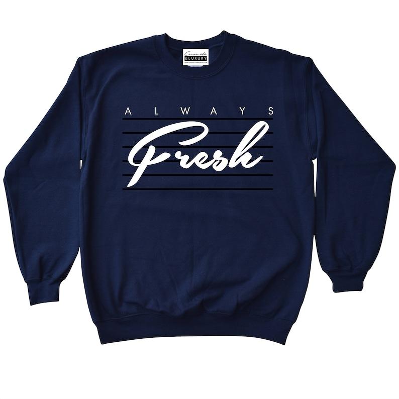 c45937d6f6772c Always Fresh Navy Blue Crewneck Sweatshirt To Match Retro