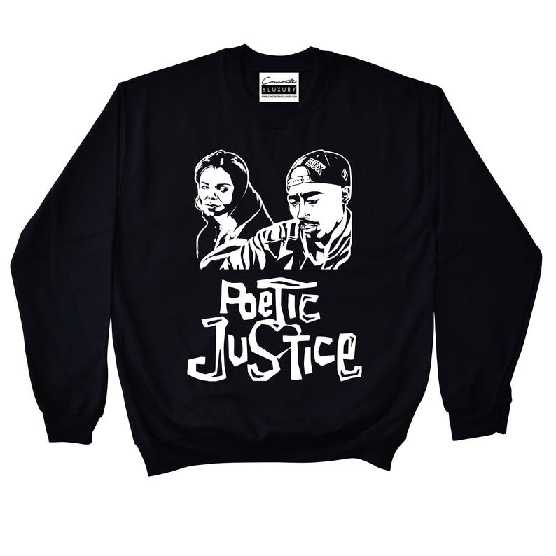 100% authentic a7cee c8635 Poetic Justice Black Crewneck To Match Retro Air Jordan 9 LA   Etsy