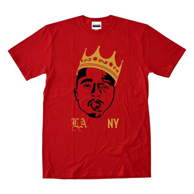 35724c2411c725 Tupac Shakur Biggie Smalls Red T-shirt Los Angeles