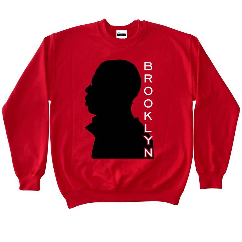 9be0651c3244d0 Brooklyn New York Red Crewneck Sweatshirt To Match Retro Air