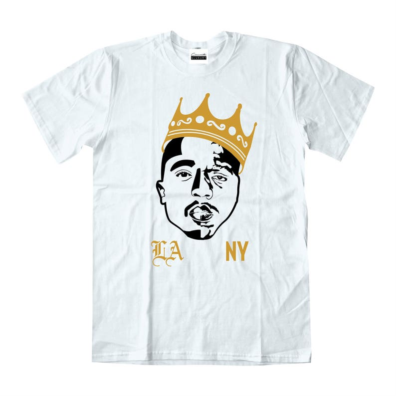 a702706cca7758 Tupac Shakur Biggie Smalls White T-shirt To Match Retro Air