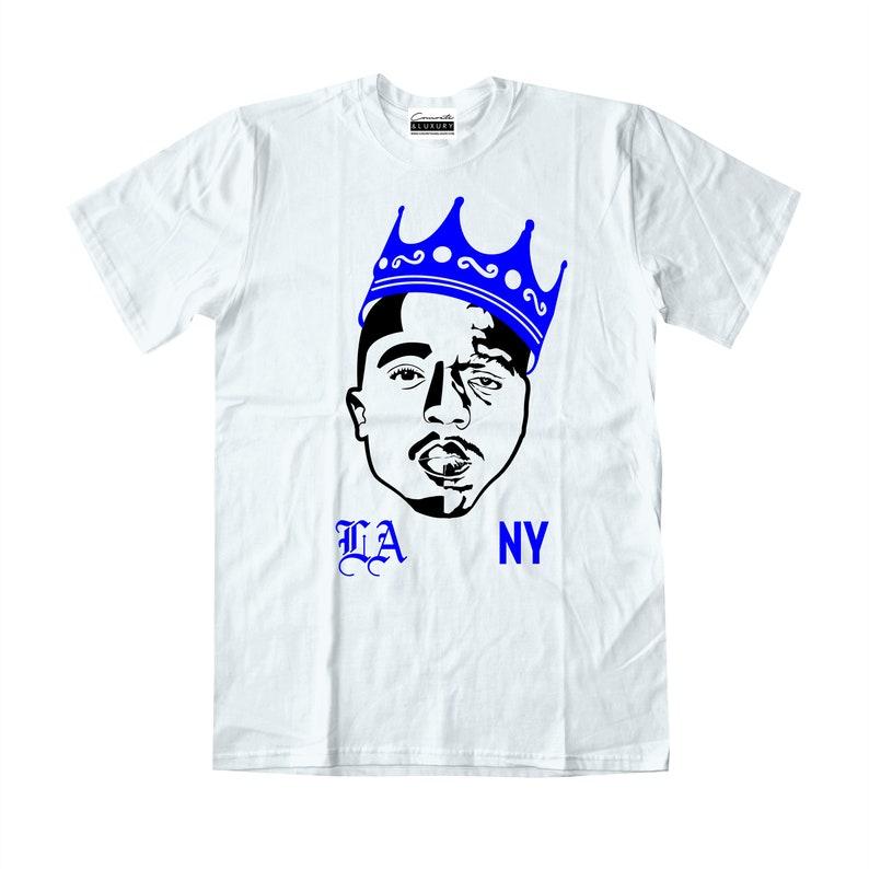 e82a6a8dd06c5c Tupac   Biggie Men s White T-shirt To Match Retro Air