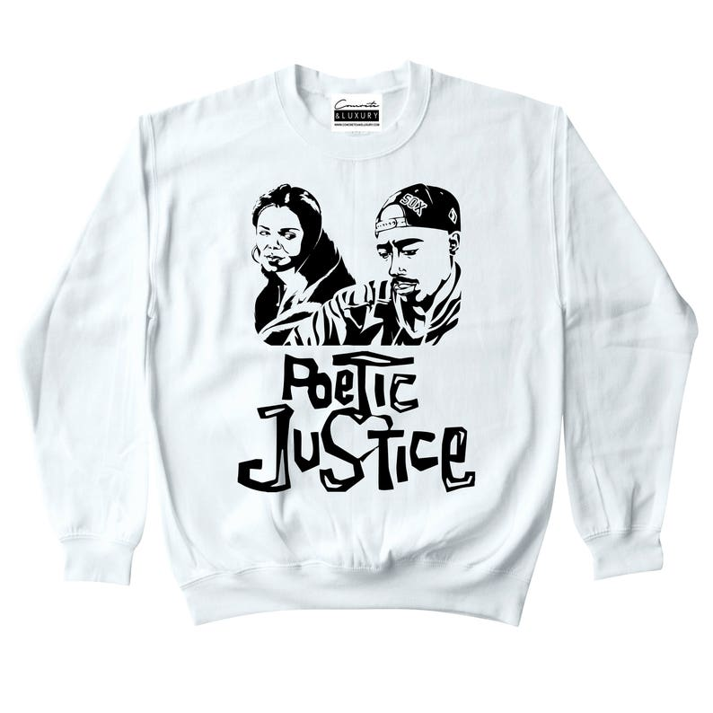 7cf6a4fd1c6 Poetic Justice White Crewneck To Match Retro Air Jordan 9 LA | Etsy