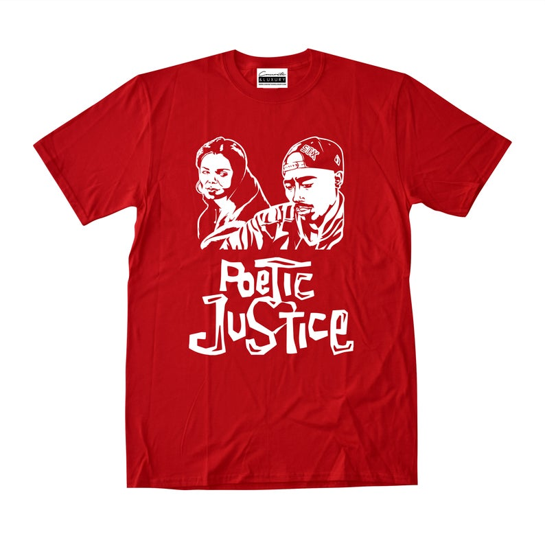 47c2f9187029 Poetic Justice Red T-shirt To Match Retro Air Jordans 11 Win