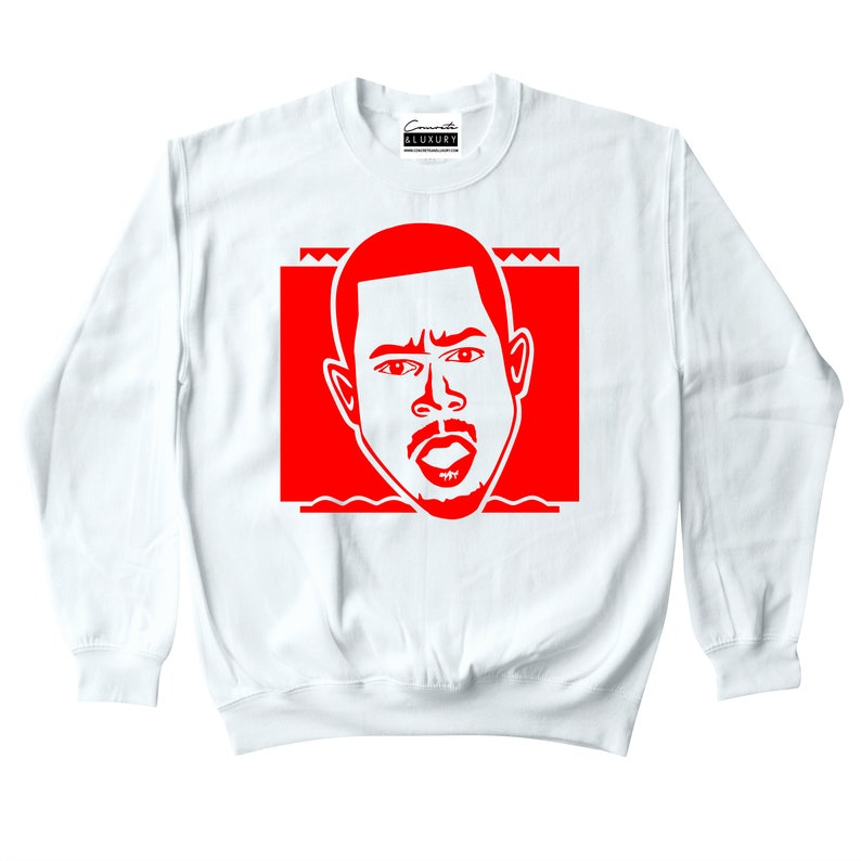 79a0c2407dcb7a Martin Lawrence Men s Cash Only White Crewneck