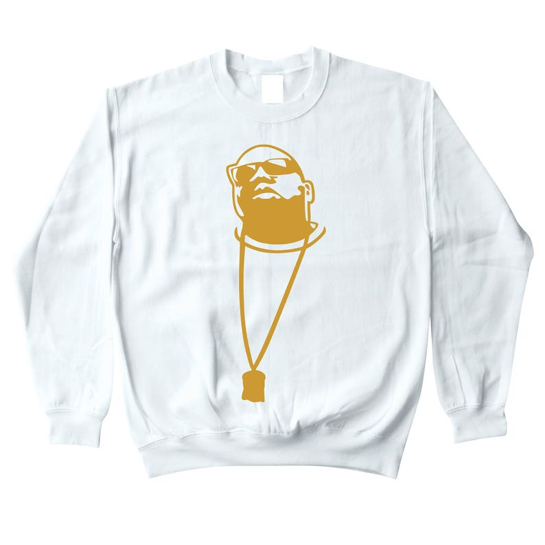 6cef6af689eb12 Biggie Smalls Chain White Crewneck Sweatshirt To Match Retro