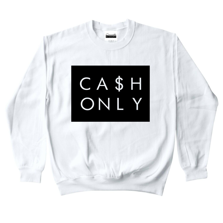 buy popular f9476 86bb2 Béton   argent luxe hommes blanc seulement Sweat ras du cou   Etsy