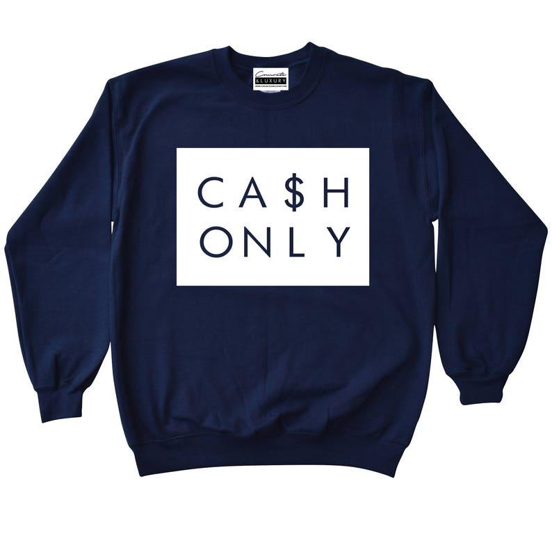 official photos ec16e 4c49e Cash Only Navy Blue Crewneck Sweatshirt To Match Retro Air   Etsy