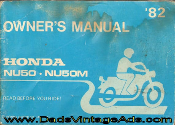 1982 Honda NU50 & NU50M Urban Express Scooter/Moped Owner's Manual #mm105