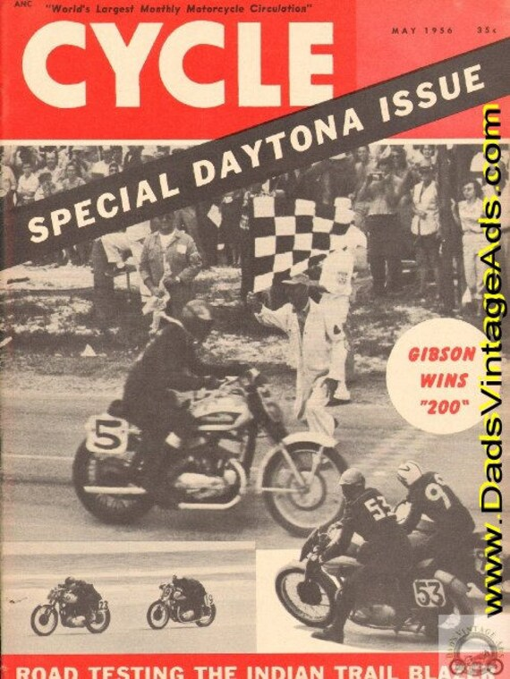 1956 May Cycle Motorcycle Magazine Back-Issue #5605cyc