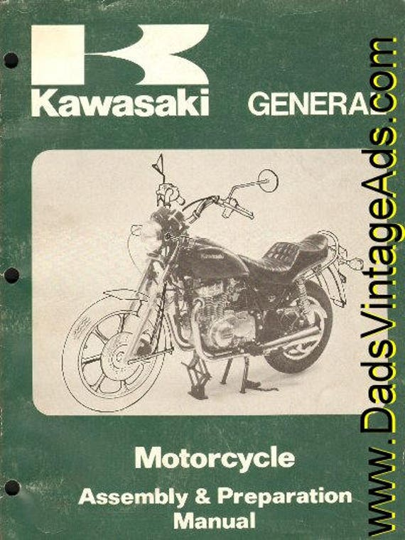 1983 Kawasaki Motorcycle Assembly & Preperation Manual #mm46