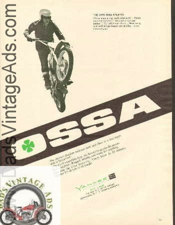 1970 Ossa Stiletto 250 Vintage Motorcycle Ad #bv7010a05