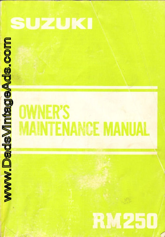 1982 Suzuki RM250 Owner's Maintenance Manual #mm115