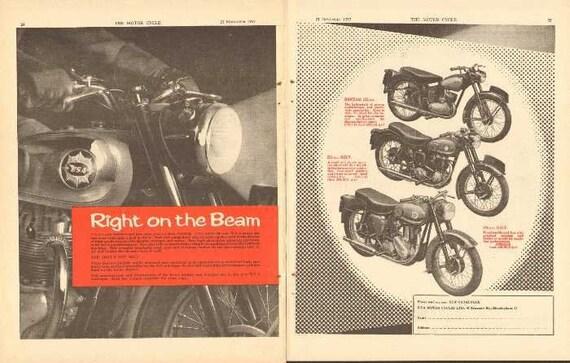 1957 BSA Bantam 125 250 350 Motorcycle 2-Page Ad #ncc11