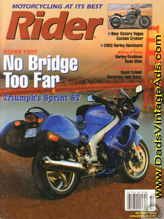2002 October Rider Motorcycle Magazine Back-Issue #0210rdr