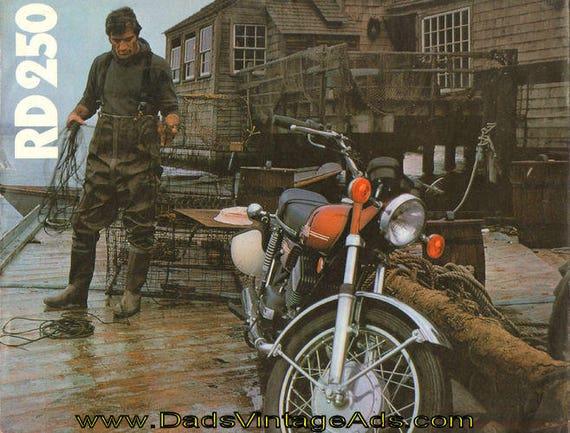 1973 Yamaha RD250 4-Page Brochure #mb722