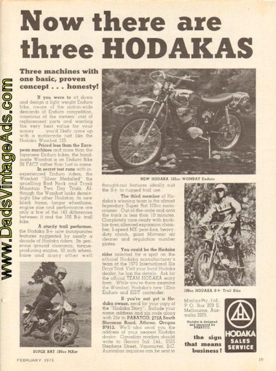 1973 Hodaka - Now there are three Hodakas - Ad #d73ba04