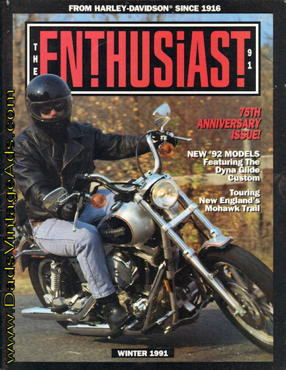 1991 Winter Harley-Davidson Enthusiast Motorcycle Magazine Back-Issue #mb471
