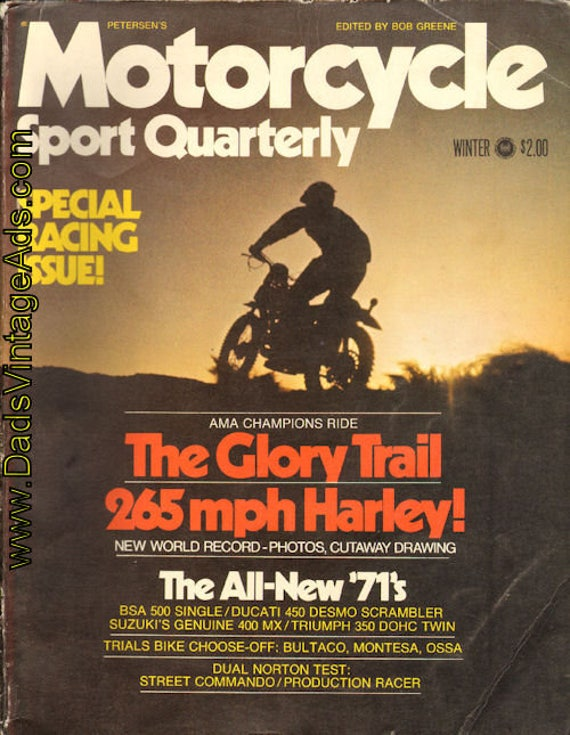 1971 Winter Motorcycle Sport Quarterly Special Racing Issue Book #mb582