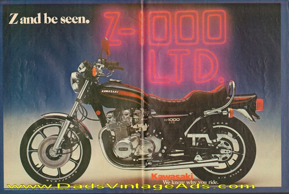 1977 Kawasaki KZ-1000 LTD - Z and be seen - 2-Page Ad #d77da11