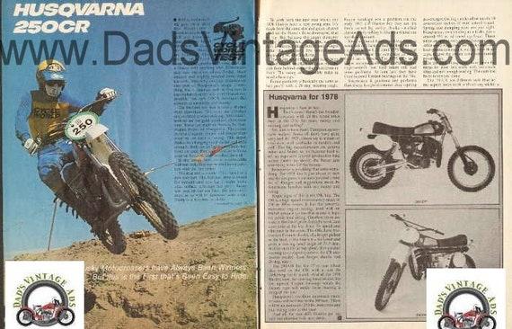 1978 Husqvarna 250CR Road Test 6-Page Article #d78ba04