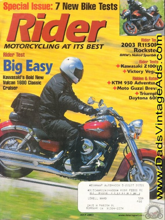 2003 July Rider Motorcycle Magazine Back-Issue #0307rdr